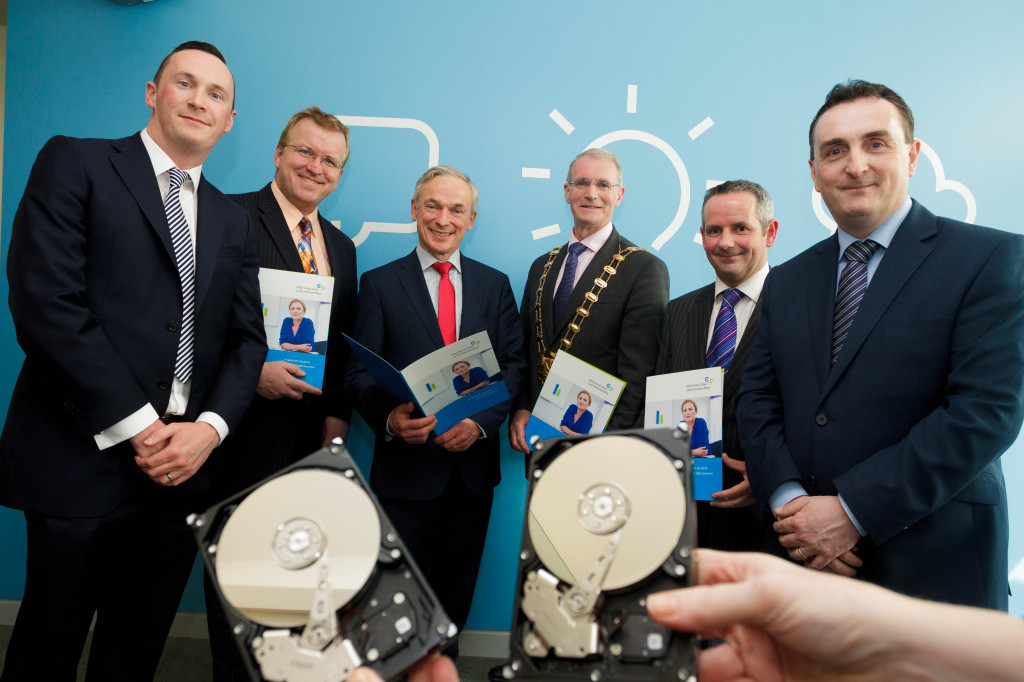 (From Left to Right:) Ciaran Kennedy, Technical Director with CDS, Oisin Geoghegan, Head of Fingal Local Enterprise Office, Minister Richard Bruton T.D., Cllr Kieran Dennison, Mayor of Fingal, Paul Reid, Chief Executive, Fingal County Council and Ronan Kennedy, Managing Director of CDS (Photography Credit: Joe Keogh Photography)